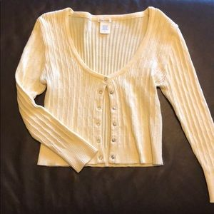 Maurices yellow knit cardigan